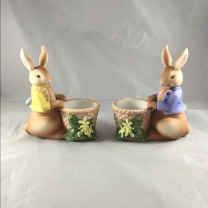 Vintage NWT Partylite Bunny Tealight Holders